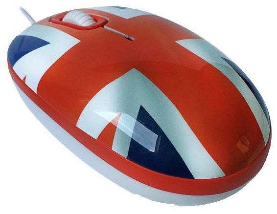 Мышь CBR English Breakfast Red-Blue USB