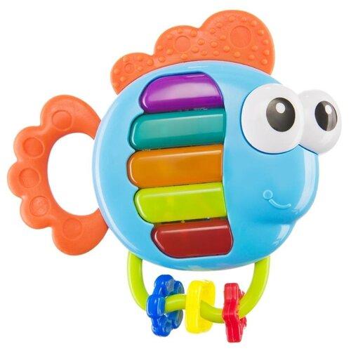 Купить Прорезыватель-погремушка Happy Baby Piano Fish разноцветный, Погремушки и прорезыватели