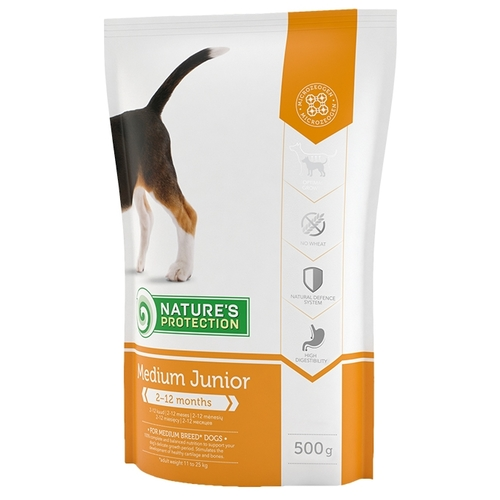Nature's Protection Medium Junior (0.5 кг) Корма для собак
