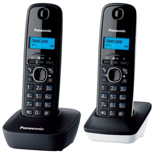 Радиотелефон Panasonic KX-TG1612 серый/белый фото