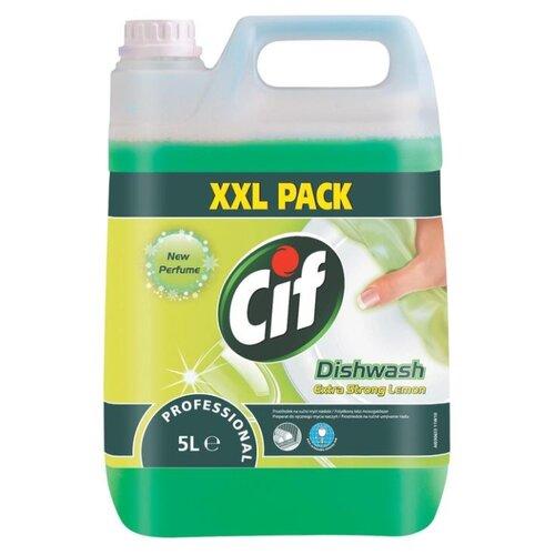 Cif Средство для мытья посуды Extra strong lemon 5 л сменный блок pro brite средство для мытья посуды dream 5 л сменный блок