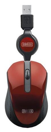 Мышь Sweex MI182 Pocket Mouse Red USB