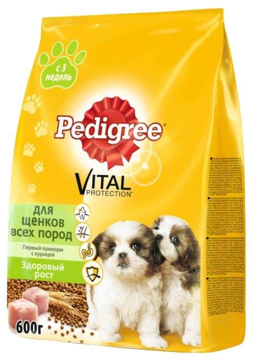 Корм для щенков Pedigree Первый прикорм для здоровья кожи и шерсти, курица