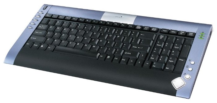 Клавиатура Genius LuxeMate Scroll Black-Blue PS/2