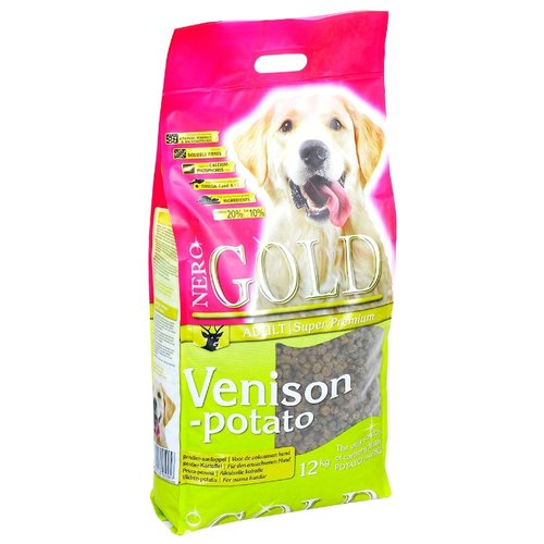 Сухой корм для собак Nero Gold оленина с картофелем 12 кг