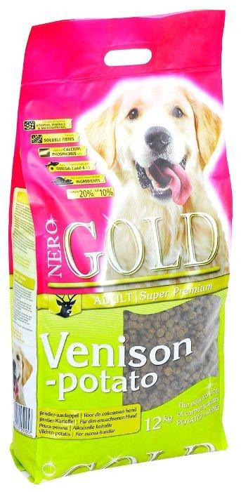 Корм для собак Nero Gold оленина с картофелем 12 кг