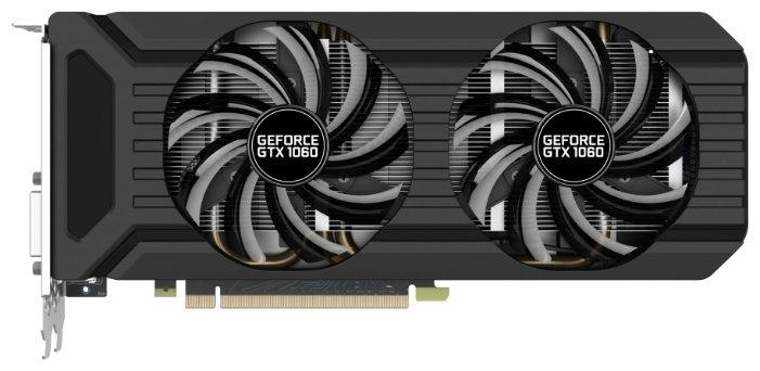 Видеокарта Palit GeForce GTX 1060 1506Mhz PCI-E 3.0 6144Mb 8000Mhz 192 bit DVI HDMI HDCP Dual