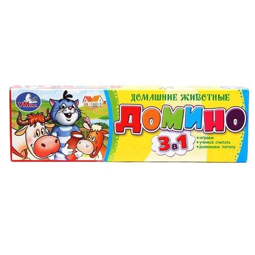 Настольная игра Умка Простоквашино Домино 3 в 1