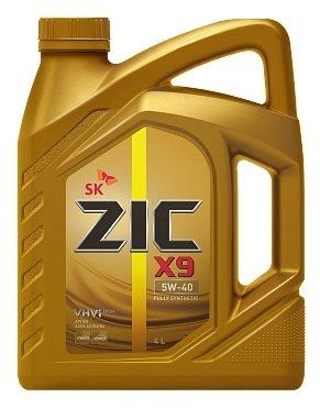 Моторное масло ZIC X9 5W-40 4л синтетическое