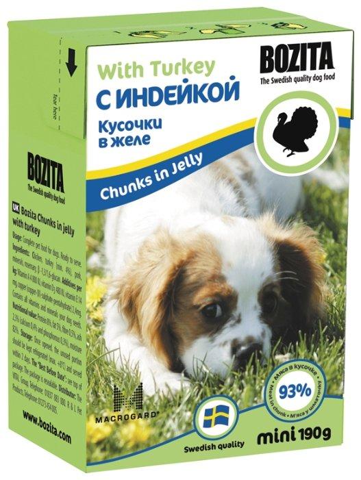 Корм для щенков Bozita Mini индейка 190г