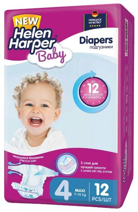 Helen Harper подгузники Baby 4 (7-14 кг) 12 шт.
