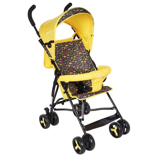 Прогулочная коляска BamBola B200 BI-BI желтый коляска прогулочная farfello zigzag желтый зигзаг yellow желтый диск колеса eva