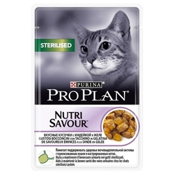 Корм для кошек Purina Pro Plan NutriSavour Sterilised feline with Turkey in jelly