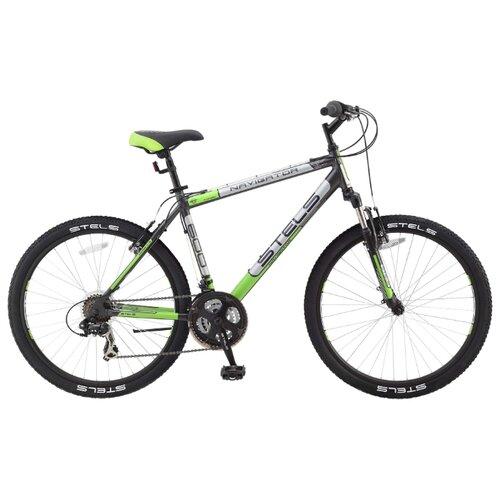 Горный (MTB) велосипед STELS Navigator 600 V 26 V010 (2017) серый/серебристый/зелёный 19 (требует финальной сборки) велосипед centurion lhasa e 600 29 2017