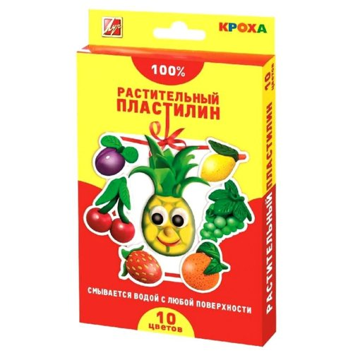 Купить Пластилин Луч растительный 10 цветов (25С1556-08), Пластилин и масса для лепки