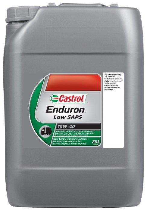 Моторное масло Castrol Enduron Low SAPS 10W-40 20 л