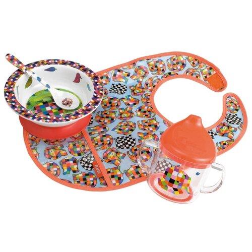 Комплект посуды Petit Jour Paris Elmer (EL910D) красный/голубой посуда petit jour набор детской посуды elmer