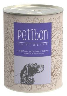 Корм для собак Petibon Phytoline с мясом молодого бычка с тыквой и базиликом для собак (0.34 кг) 1 шт.