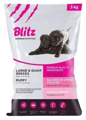 Корм для собак Blitz Puppy Large & Giant Breeds dry (15 кг)