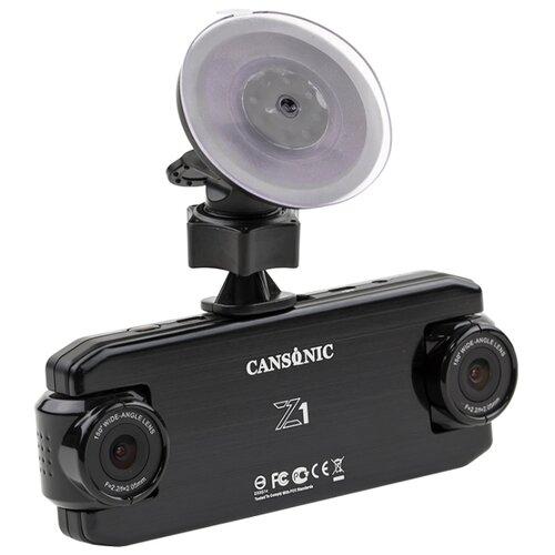 Видеорегистратор CANSONIC Z1 DUAL GPS, 2 камеры, GPS, ГЛОНАСС черный