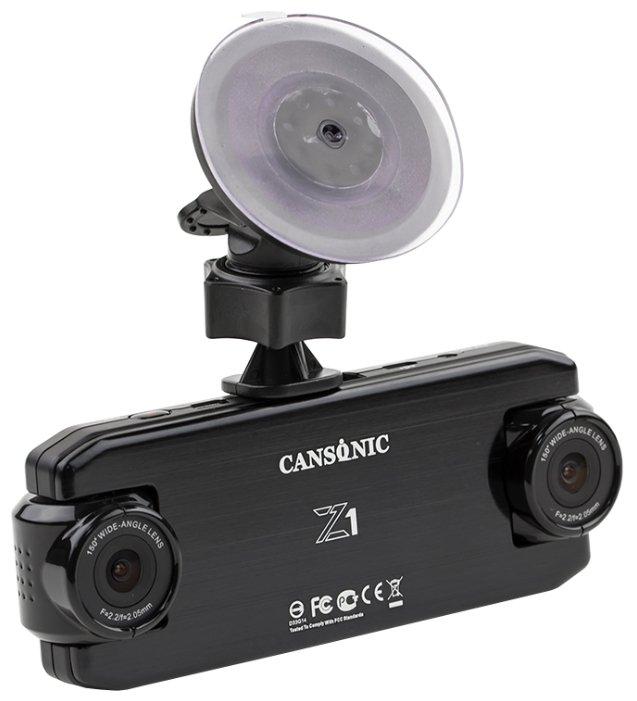 Видеорегистратор CANSONIC Z1 DUAL GPS, 2 камеры, GPS, ГЛОНАСС