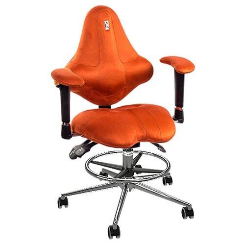 Компьютерное кресло Kulik System Kids (с подставкой для ног) детское, обивка: текстиль, цвет: морковный эргономичное кресло kulik system galaxy 1104