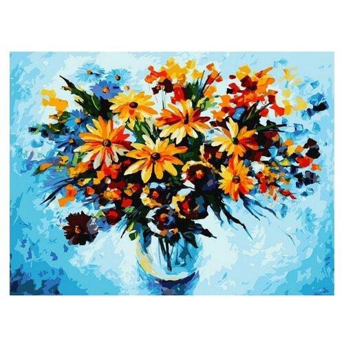 Купить Белоснежка Картина по номерам Разноцветные ромашки 30х40 см (3012-CS), Картины по номерам и контурам