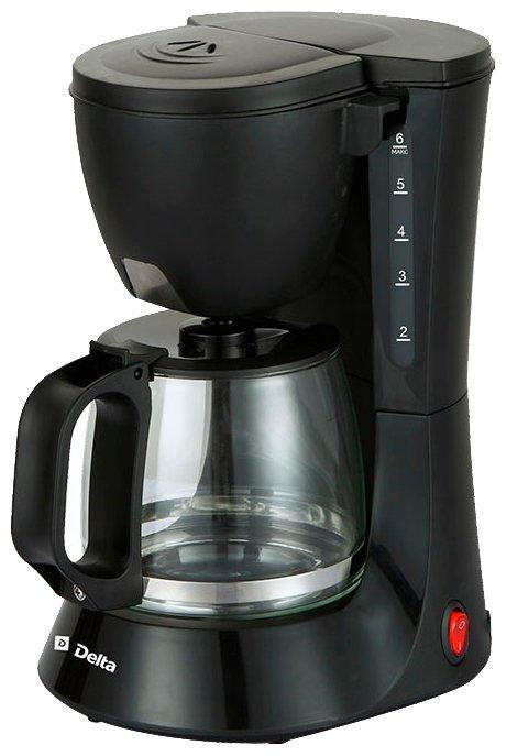 Кофеварка Delta Lux DL-8153 черная DL-8153 (0Р-00015403)