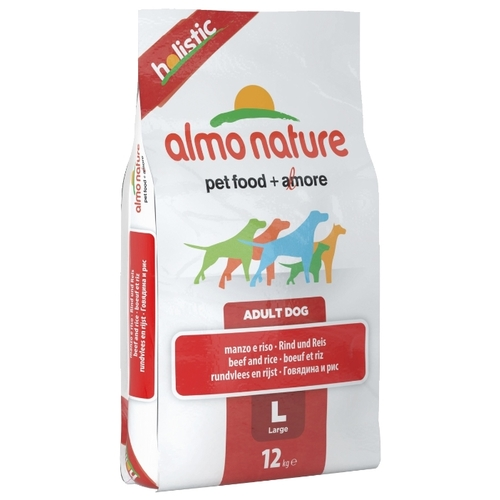 Корм для собак Almo Nature (12 кг) Holistic Adult Dog Large Beef and Rice
