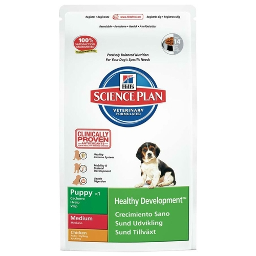Корм для собак Hill's (12 кг) Science Plan Puppy Healthy Development Medium Chicken