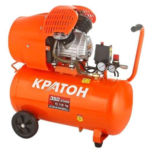 Компрессор масляный Кратон AC-350-50-DDV, 50 л, 2.2 кВт compressor kraton with direct transmission ac 360 100 ddv
