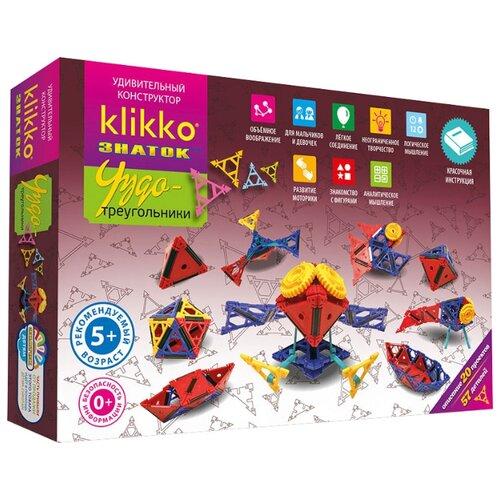 Фото - Конструктор Знаток Klikko Чудо-треугольники 20в1 знаток конструктор альтернативная энергия 50 проектов малый набор знаток