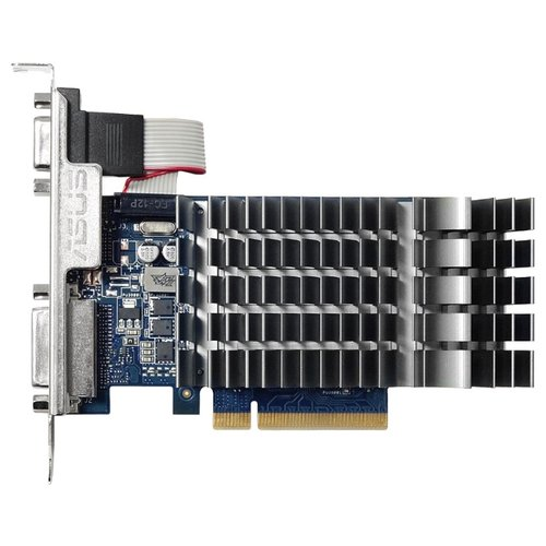 Видеокарта ASUS GeForce GT 710 954Mhz PCI-E 2.0 1024Mb 1800Mhz 64 bit DVI HDMI HDCPВидеокарты<br>