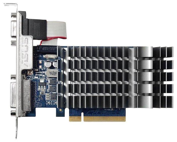ASUS Видеокарта ASUS GeForce GT 710 954Mhz PCI-E 2.0 1024Mb 1800Mhz 64 bit DVI HDMI HDCP