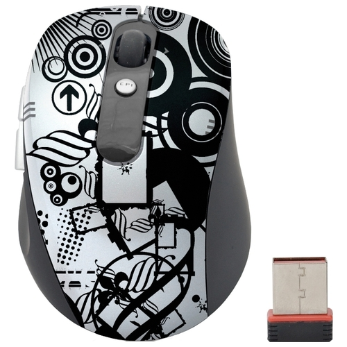 Мышь Cirkuit Planet CPL-MW1101 Black-Silver USB