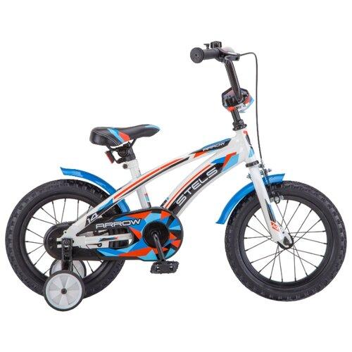 Детский велосипед STELS Arrow 14 V020 (2018) белый/синий (требует финальной сборки)