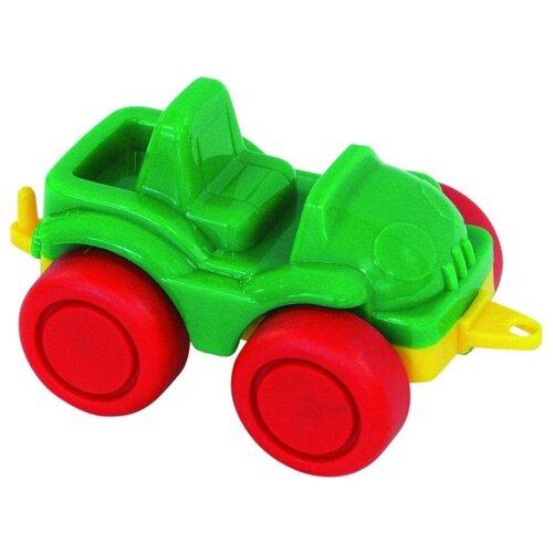Внедорожник Нордпласт Джип открытый Нордик (104/1/4) 11.5 см зеленый/красный
