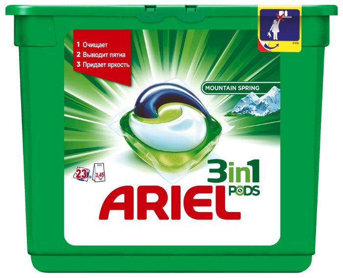 Капсулы Ariel PODS 3-в-1 Горный родник
