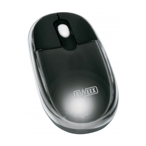Мышь Sweex MI028 Optical Scroll Mouse Neon Black USB