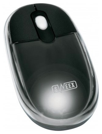 Мышь Sweex MI028 Optical Scroll Mouse Neon Black USB