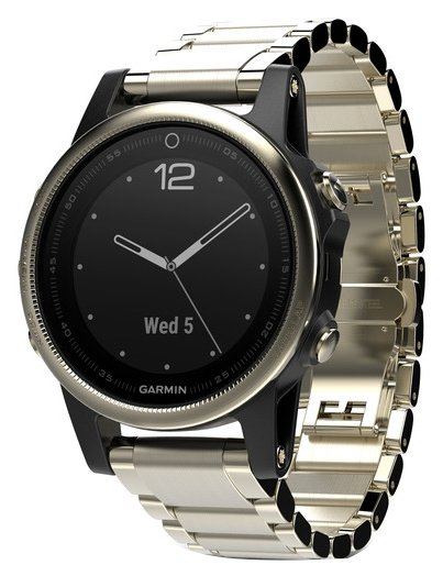 Garmin Fenix 5S Sapphire with Metal Band