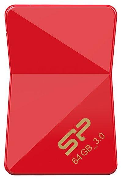 Флешка USB SILICON POWER Jewel J08 64Гб, USB3.0, черный [sp064gbuf3j08v1k]