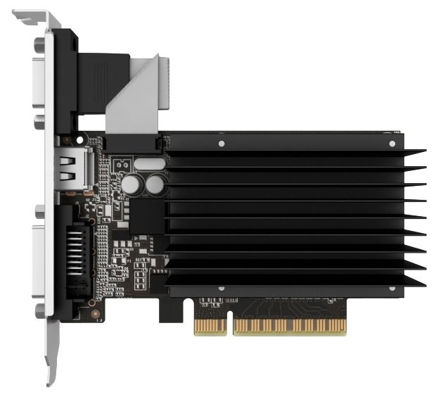 Видеокарта Palit GeForce GT 710 954Mhz PCI-E 2.0 2048Mb 1600Mhz 64 bit DVI HDMI HDCP Silent