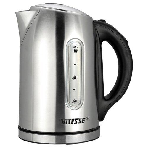 Чайник Vitesse VS-166, серебристый/черный чайник vitesse vs 172 серебристый черный