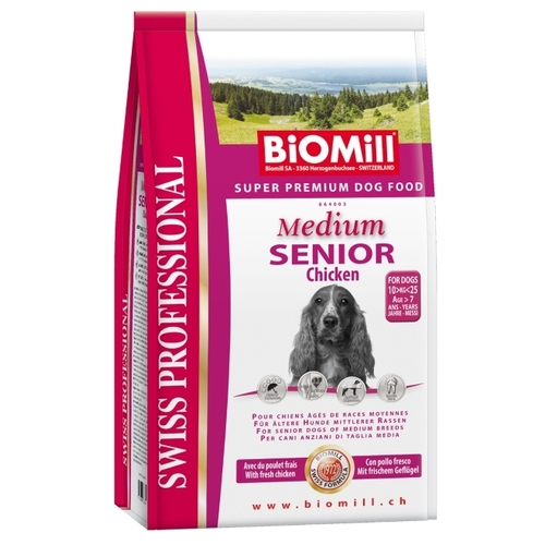 Biomill Swiss Professional Medium Senior Chicken (3 кг) Корма для собак