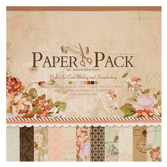 Бумага Белоснежка 30,5x30,5 см, 24 листа, Романтика утра