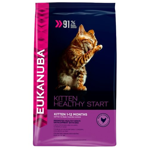 Корм для кошек Eukanuba (0.4 кг) Kitten Dry Cat Food Healthy Start ChickenКорма для кошек<br>