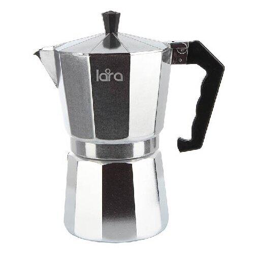 Гейзерная кофеварка LARA LR06-73 (450 мл), серебристый