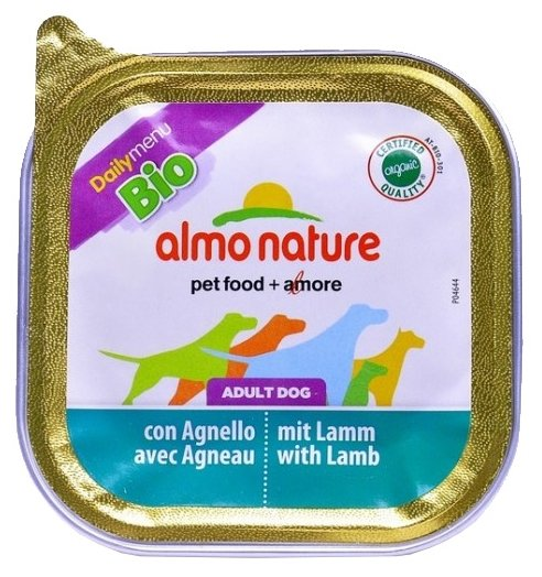 Корм для собак Almo Nature DailyMenu Bio Pate Adult Dog Lamb