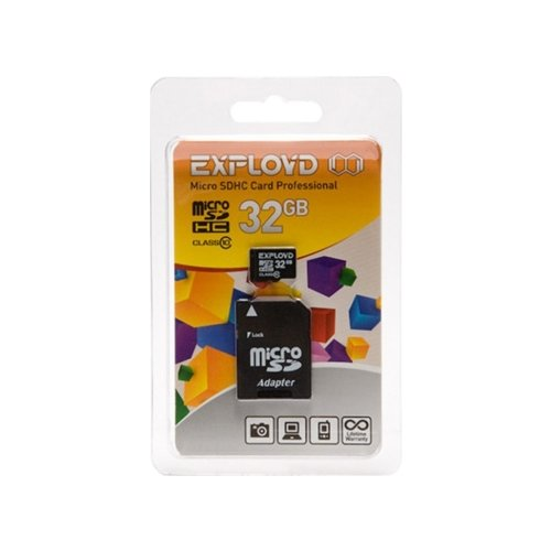 Карта памяти EXPLOYD microSDHC Class 10 32GB + SD adapter